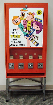 Bloomfield PEZ girl vending machine